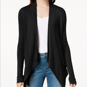 ✨ H&M Basic Black Open Waterfall Cardigan✨